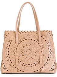 Outsource Images Laser Cut Tote Bag Nude And Neutrals