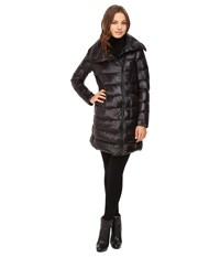 Vince Camuto Asymmetrical Zip Lightweight Down L8811 Black Women's Coat