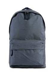 Topman Navy Grid Check Backpack Blue