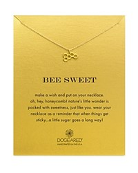 Dogeared Bee Sweet Necklace 16 Gold