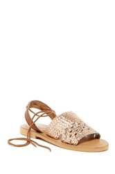 Kenneth Cole Reaction Zoom Out Lace Up Sandal Metallic