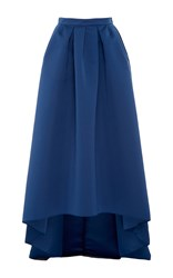 Paule Ka Ottoman High Low Skirt With Pockets Blue
