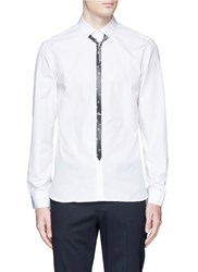Neil Barrett Pop Art Star Tie Print Shirt White