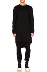 Rick Owens Long Sleeve Funnel Neck Top In Black
