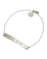 Coordinates Collection Silvertone Nile Pendant Bracelet Women's
