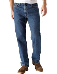 Levi's 550 Relaxed Fit Dark Stonewash Jeans Blue