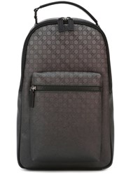 Salvatore Ferragamo Printed Degrade Backpack Black