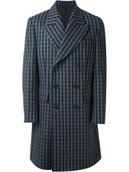 E. Tautz Double Breasted Overcoat Blue