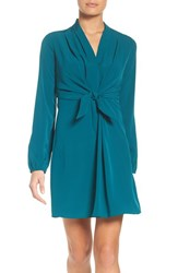 A By Amanda Women's Bow Front Faux Wrap Dress Jade