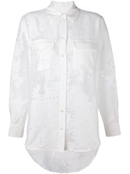 Equipment Semi Sheer Jacquard Shirt White