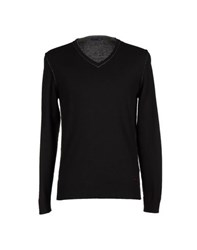 Trussardi Jeans Knitwear Jumpers Men Black