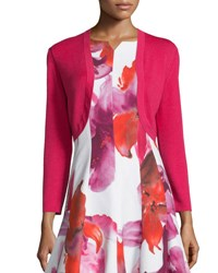 Carolina Herrera Long Sleeve Basic Bolero Hot Pink