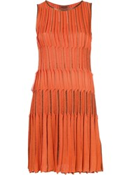 Missoni Pleated Tank Dress Yellow Orange