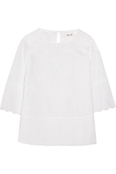 Mih Jeans The Phlox Broderie Anglaise Cotton Top