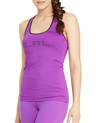 Lauren Ralph Lauren Colorblock Slim Fit Tank Purple
