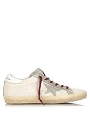 Golden Goose Super Star Low Top Leather Trainers White Multi