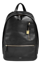 Men's Skagen 'Kroyer 2.0' Leather Backpack Black
