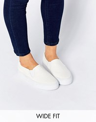 Asos Dulcie Wide Fit Trainers White Croc