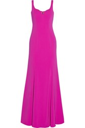 Badgley Mischka Stretch Cady Gown Magenta