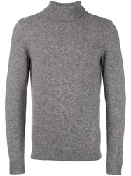 A.P.C. Turtleneck Ribbed Sweater Grey