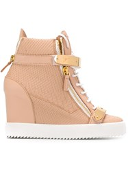Giuseppe Zanotti Design Wedge Sneakers Pink And Purple
