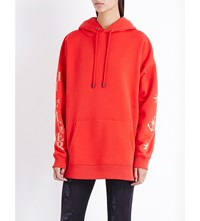 Tommy Hilfiger X Gigi Anchor Print Jersey Hoody Mars Red