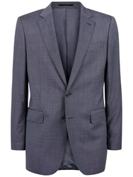 Jaeger Pick And Pick Wool Classic Suit Jacket Blue