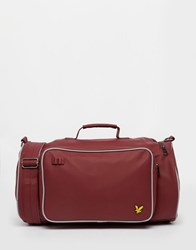 Lyle And Scott Duffle Bag Red
