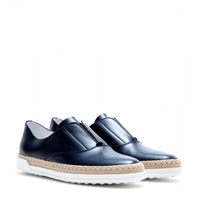 Tod's Francesina Leather Slip On Sneakers Navy