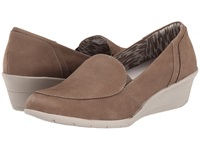 Hush Puppies Lulu Ware Taupe Nubuck Women's Wedge Shoes