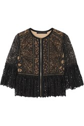 Elie Saab Cotton Blend Lace Jacket
