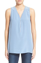 The Kooples Women's Front Zip Silk Tank