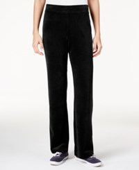 Karen Scott Petite Velour Pull On Pants Only At Macy's Deep Black