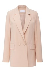 Carven Single Breasted Long Blazer Nude