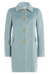Red Valentino Coat With Alpaca And Wool Blue