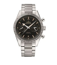 Omega Speed Master '57 Co Axial Chronograph Watch Unisex Silver