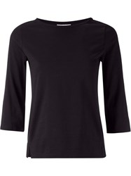 Astraet Three Quarter Sleeve T Shirt Black