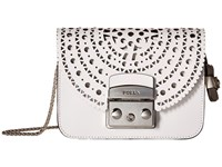 Furla Metropolis Bolero Mini Crossbody Chalk Petalo Cross Body Handbags White