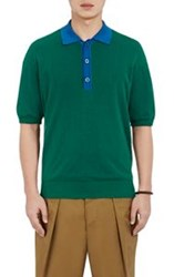 Tomorrowland Contrast Collar Polo Shirt Green