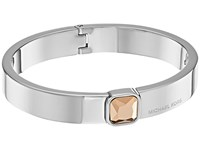 Michael Kors Urban Rush Cz Hinged Bangle Bracelet Silver Bracelet