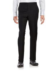 Lauren Ralph Lauren Straight Leg Wool Tuxedo Pants Black