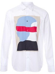 Marni Abstract Print Shirt White