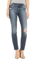 Articles Of Society Women's 'Shannon' Destroyed Slim Straight Leg Jeans Clark