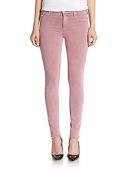 Hudson Nico Skinny Twill Ankle Jeans Rose Coupe
