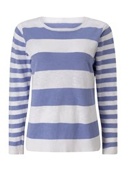 Dash Linen Stripe Jumper Navy