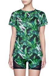 We Are Handsome 'The Retrograde' Forest Print Active T Shirt Multi Colour