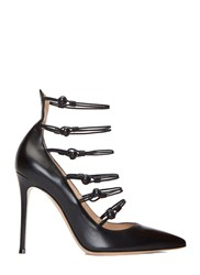Gianvito Rossi Marquis Elastic Strapped Stiletto Pumps Black