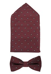 Selected Homme Tie Red Bordeaux