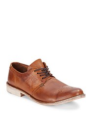 Walk Over Vintage Collection Ziba Flex Leather Lace Up Oxfords Brown