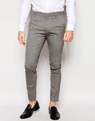 New Look Skinny Fit Trousers In Grey